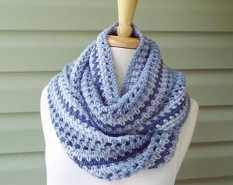 PATTERN S-099 / Crochet Pattern ... Striped Infinity ... 160/145/80 yards