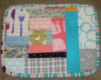 Scrap Trivet, patchwork trivet, cooking trivet, hot pad