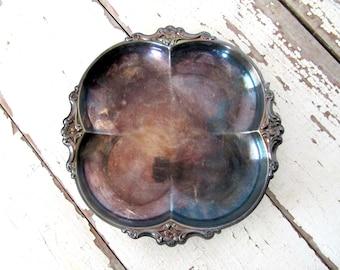 Vintage Silver Bowl Tray