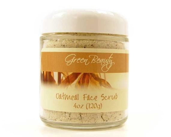 Oatmeal Face Scrub 4oz, Natural Face Scrub, Natural Cosmetics, Natural, Exfoliating Face Scrub, Sugar Scrub, Oatmeal Scrub, Face Scrub