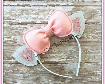 Marie Kitty Ears Headband - CUSTOM - Twincess Bowtique