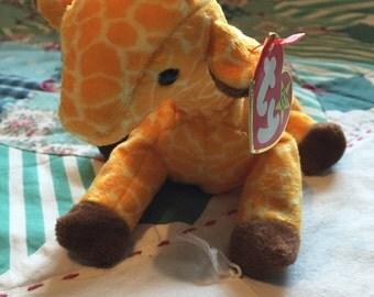Vintage 1995 T Y Beanie Baby Twigs #4068 The Giraffe #3603