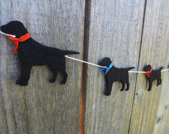 Black Labrador Garland, Labrador art, Dog Garland, Dog Bunting, Gift for Labrador, Labrador Retreiver, Labrador, Dog Lovers Gift