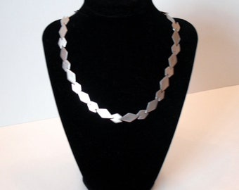 Vintage .925 Silver Tile Circle Necklace or Choker