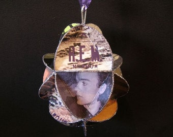 R.E.M. Band Album Cover Ornament Made Of Record Jackets REM
