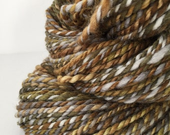 "Handspun Yarn -- ""Mud Bogs and Moonshine"" -- corriedale -- 96 yards worsted weight"