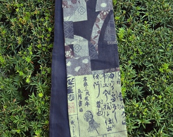 KiMonoMono cotton/linen scarf browns