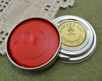 Tulip Red Wax Paste Gilders Paste® 1.5-ounce Сanister Paint
