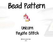 Unicorn Seed Bead Pattern, Beadwork for Earrings, Pendants, Charms   DIGITAL DOWNLOAD
