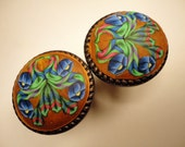 8    Polymer Clay   Cabinet Knobs/ Pulls. bronze blue green 16 Available   Oil rubbed bronze metal base