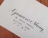 Custom Calligraphy for Wedding Invites // Handwritten Script Font Perfect for Elegant Weddings, Classic Save the Date Cards, RSVP envelopes