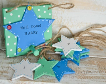 Reward star peg, Well Done star chart for good behaviour and potty training, reward jar, behaviour help, chore chart