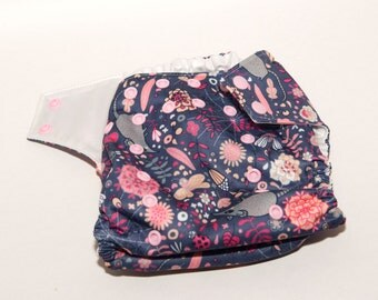 Awesome Possum - One Size Cloth Diaper - OS Baby Diaper - Girly Diaper - Cloth Cover - Pocket Diaper - AI2 Diaper - Velcro or Snaps
