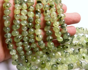 Prehnite - bead - full strand - nugget - rounded pebble - A quality - PSC290