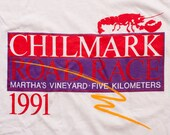1991 Chilmark Road Race T-Shirt, Martha's Vineyard 5K, Vintage 90s
