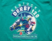 120th Kentucky Derby 1994 Horse Race T-Shirt, Champion, Vintage 90s