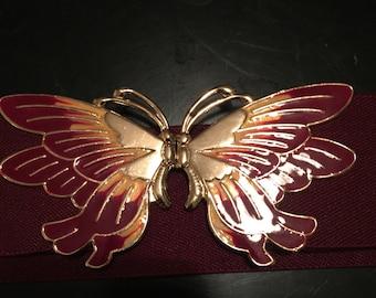 Vintage Garnet Butterfly Belt
