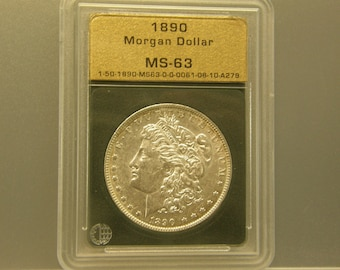 Genuine 1890 Morgan Silver Dollar
