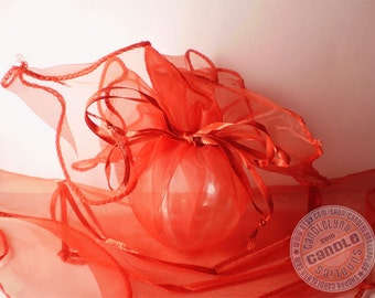 24 RED Organza Wraps - Party favors, jewelry, gifts and much, much more