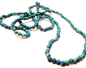 """Blue Green Lace Agate Seed Beads 4mm Round 1 Full 34"""" Strand Over 200 Unique Beads"""