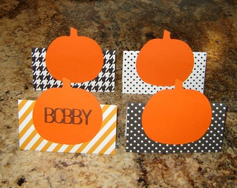 Pumpkin Place Card Set - Thanksgiving Table Decor - Thanksgiving Entertaining