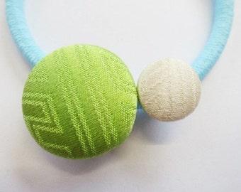 Japanese pure silk Hair accessories Green 157