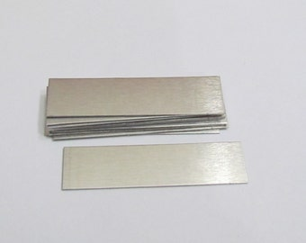 1/2 x2 - 22G Aluminum rectangles - ring blanks - earring blanks - hand stamping blanks -metal blanks with protective film
