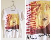 Vintage MADONNA Blond Ambition Tour Shirt- S, Concert Tour T Shirt