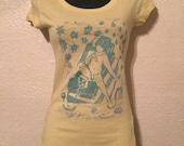 HOOKAH womens Tshirt, Hand Printed, HookahBoy Print