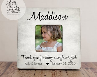 Thank You For Being Our Flower Girl Personalized Picture Frame,  Flower Girl Gift