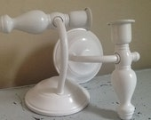 Pair of Homco Wall Sconces / made in USA / Hollywood Regency / White Wall Sconce / Shabby Chic Wall Sconce