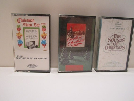 Vintage Christmas Cassette Tapes - Hallmark Julie Andrews - Mormon Tabernacle Choir - Christmas Box Favorites - CHOICE
