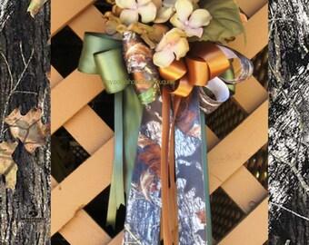 Set 6 NEW Mossy Oak Pew Bows, Mossy Oak New Break Up Pew Bows, Camo Pew Bows, Camouflage Pew Bows