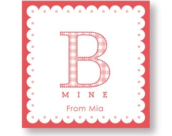 Customized B Mine Labels