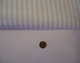 Dollhouse wide/narrow pink and white stripe wallpaper miniature 1:12 scale