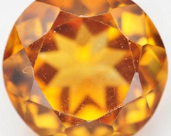 2.10 Ct. Nice Natural Genuine Gem Stone Round Yellow Citrine - Free shipping
