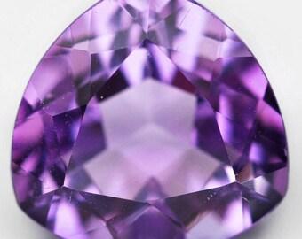 3.30 Ct. Nice Natural Genuine Gem Stone Trillion Purple Amethyst - Free shipping