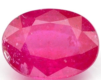 Dazzling 1.80 Ct. Top Quality Natural Gemstone Oval Top Blood Red Ruby Africa - Free shipping