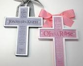 ENSEMBLE cadeau de Twin Cross baptême christianisme mis à l'honneur une naissance, baptême, baptême, Dieu vous bénisse, 1er Communion