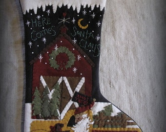 Here Comes Santa Claus Stocking E-PATTERN by cheswickcompany