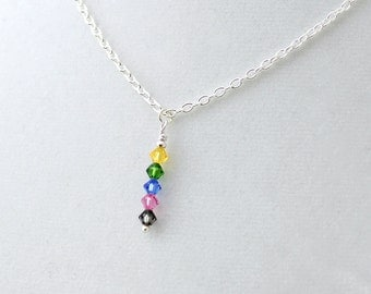 Pentatonix inspired crystal necklace - PentaconEvent Fundraiser - Swarovski crystal stick necklace