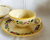 Franciscan Made In California Small Fruit Cup And Saucer As Is  1949