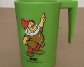 Vintage Disney Plastic Doc From Snow White and the Seven Dwarfs Cup