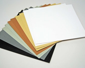 DESTASH Timeless Antique Colors Cardstock -- 6 x 6 inch -- High Quality Smooth Cardstock  -- 12 Pieces