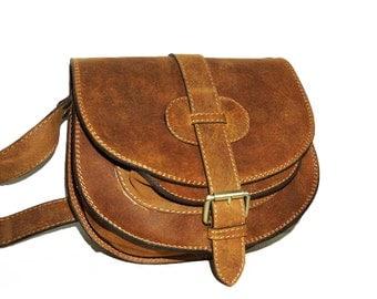 Goldmann S // Leather Saddle Bag // Leather Messenger Bag in vintage tan