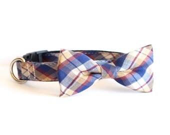 New Color! North Beach, Designer dog collars, Bow Tie Dog and Cat Collar Bow Tie Dog Wedding- Dog Collar, Wedding Dog Collar