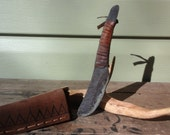 Hand Forged Primitive Skinning Knife