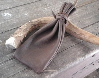 Leather and Sinew Tobacco Pouch