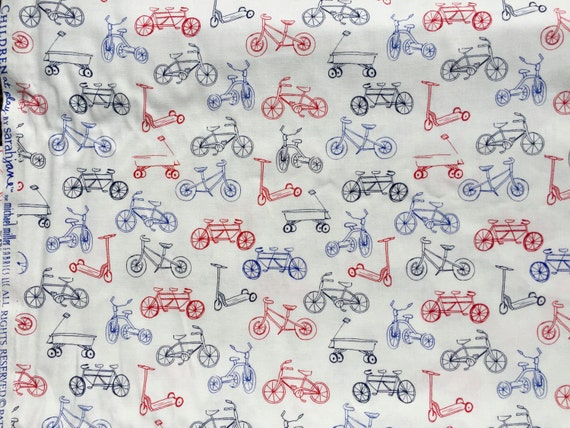 Sarah Jane Children at Play On the Go red blue Michael Miller fabric FQ or more OOP HTF