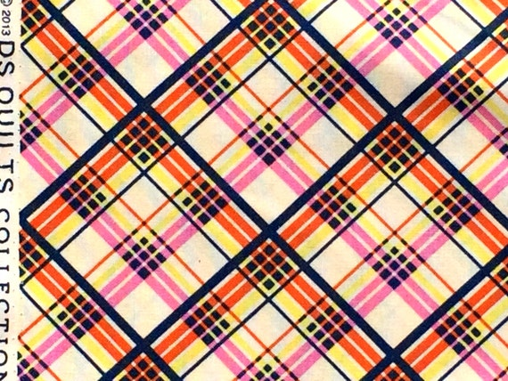 Picadilly plaid pink DS Quilts Denyse Schmidt fabric  FQ or more
